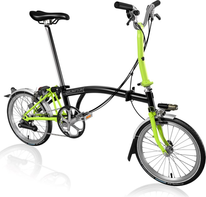 Brompton 2017 M6L Lime Green and Black with extras