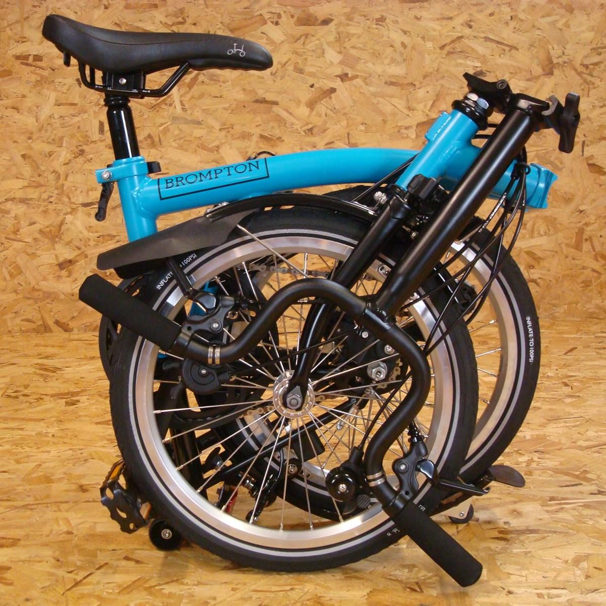 Brompton Bicycles Black Edition M6L Lagoon Blue Folding