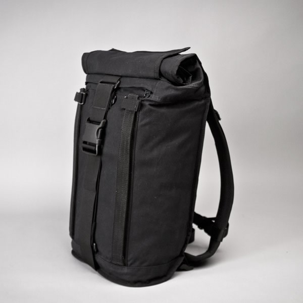 Mission Workshop R2 20 LTR Field Pack in Black Waxed Canvas
