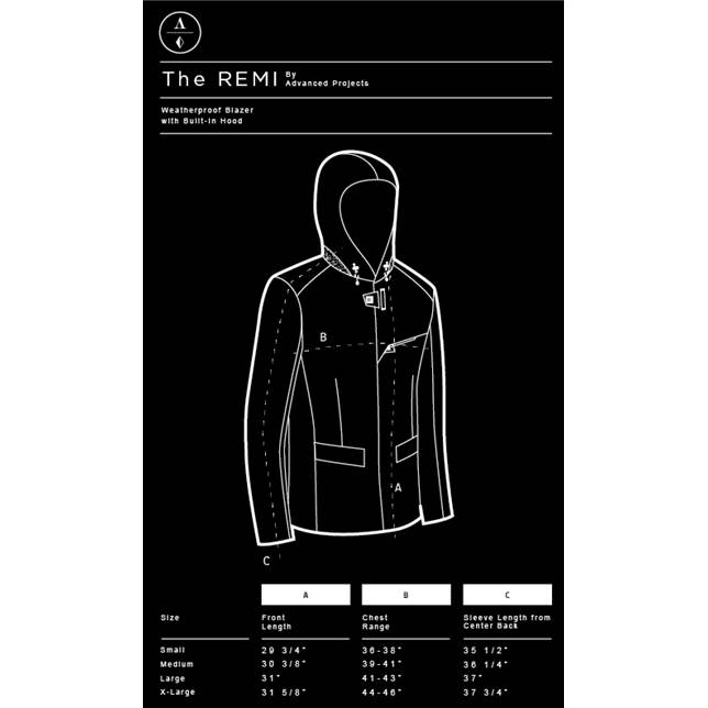 Mission Workshop Remi sizing chart